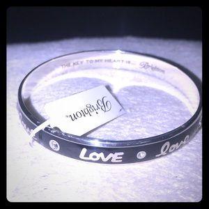 Brighton bracelet Black And silver Bangle NWT
